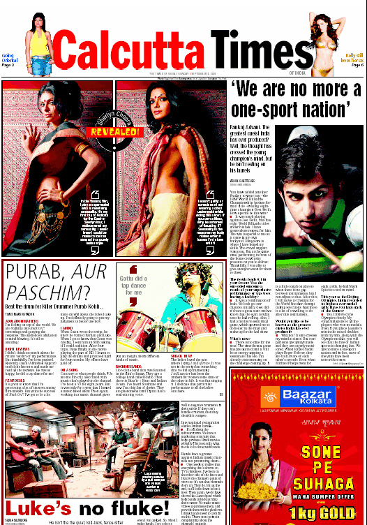 Calcutta Times – Sept 2008 « Dale Bhagwagar Media Group