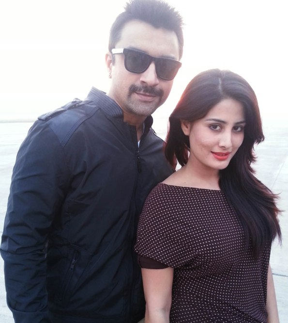 Arjumman Mughal and Ajaz Khan on the sets of Ya Rabm - Pic 2