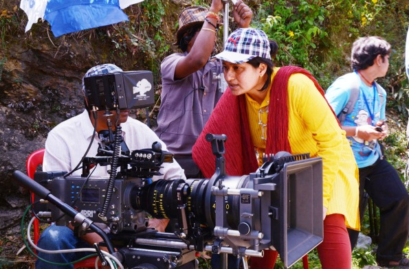Composer-filmmaker Fauzia Arshi on the sets of Hogaya Dimaagh Ka Dahi