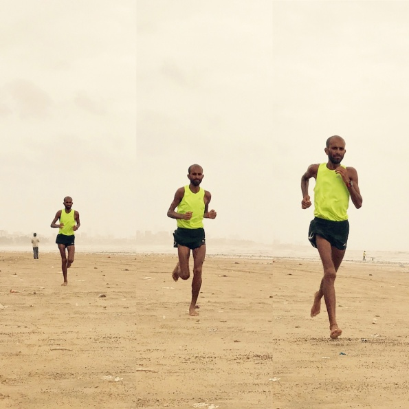 Samir Singh running in Mumbai. - Collage 1