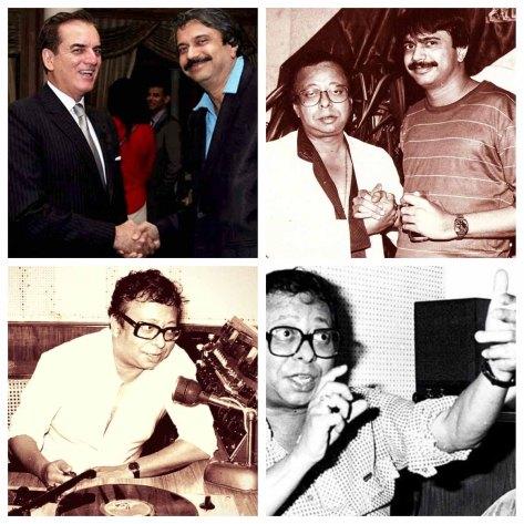 (Clockwise) 1. Ambassador of Brazil, Tovar da Silva Nunes with Chaitanya Padukone, 2. Chaitanya Padukone with R.D.Burman, 4. and 5. R.D.Burman.