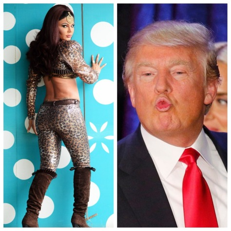 Rakhi Sawant, Donald Trump, Kim Jong Un. Collage 3. (Images courtesy - Google)