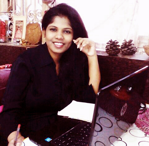 Ahana Mohammed at work.