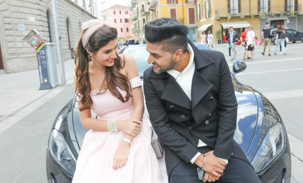Elnaaz Norouzi and Guru Randhawa on the sets of Made In India. Pic 3.
