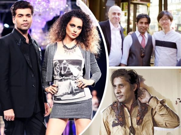 Karan Johar, Kangana Ranaut, Ashok Chaudhary - Collage 1